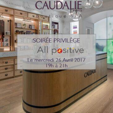 26 avril 2017 : réseautage et bien-être s'associent avec Caudalie (4è ed.)