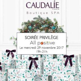 29 novembre 2017 : réseautage et bien-être s'associent avec Caudalie