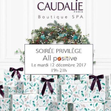 12 décembre 2017 : réseautage et bien-être s'associent avec Caudalie