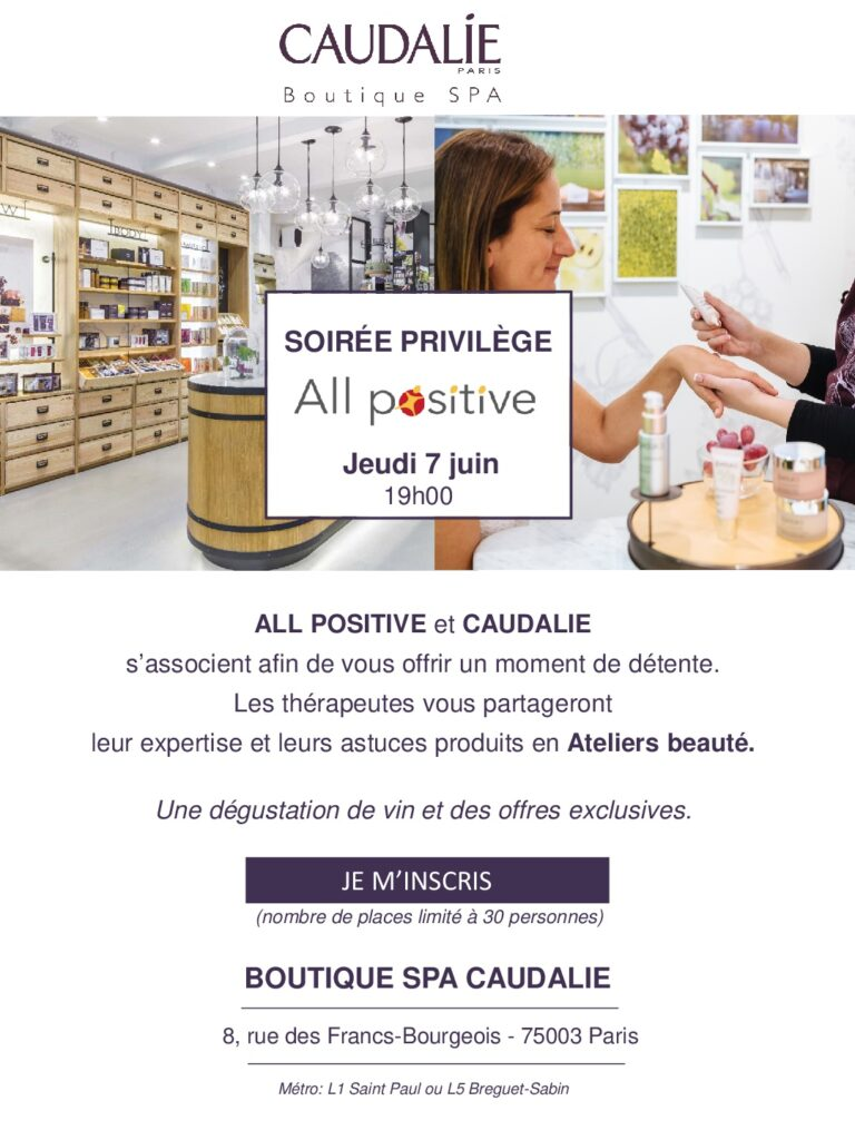 Invitation ALL POSITIVE-Caudalie 20180607