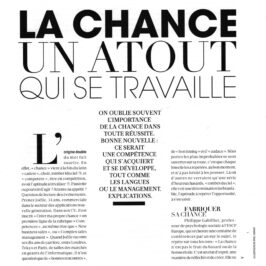« La chance, un atout qui se travaille ». All Positive interviewée dans Figaro Madame (Mai 2018)