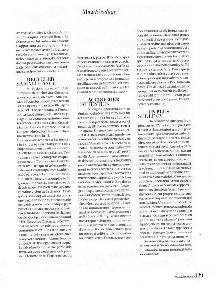 201805 Madame Figaro Article Chance All Positive P3