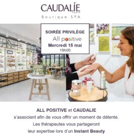 15 mai 2019 : réseautage et bien-être s'associent avec Caudalie