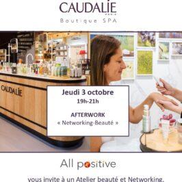 3 octobre 2019 : réseautage et bien-être s'associent avec Caudalie