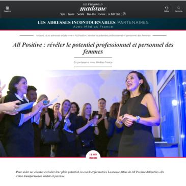 All Positive dans le dossier spécial «Coaching de vie» de Madame Figaro