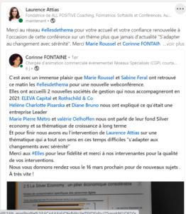 20210128 Conf changement screenshot post LinkedIn