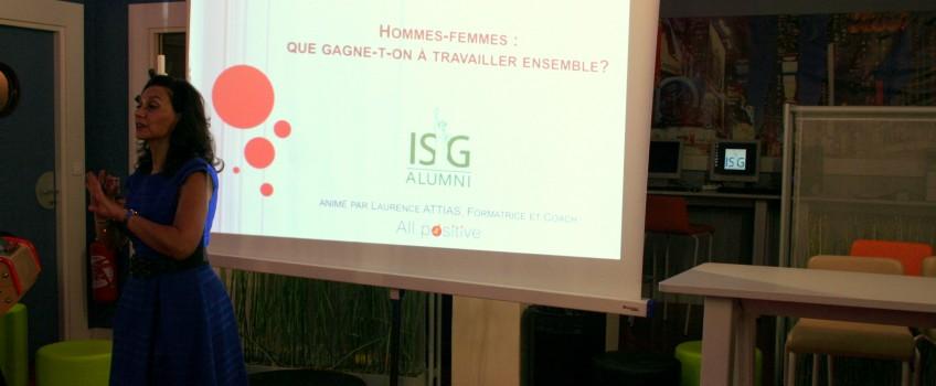 Atelier «Diversité» pour le club ISG au féminin, Nov. 2014