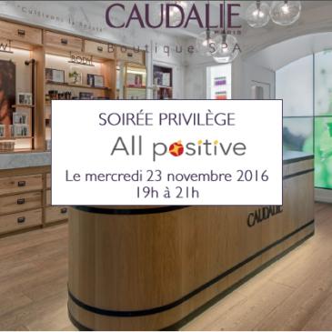 23 nov. 2016 : réseautage et bien-être s'associent avec Caudalie (3è ed.)