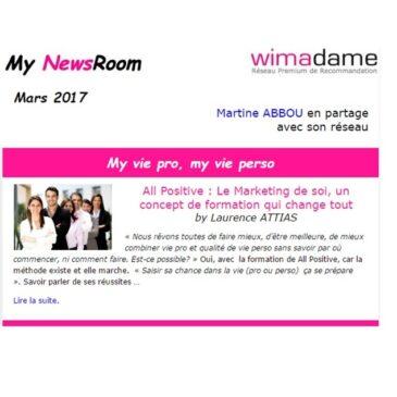 « Saisir sa chance dans la vie (pro ou perso) ça se prépare », Les conseils de All Positive sur Wimadame