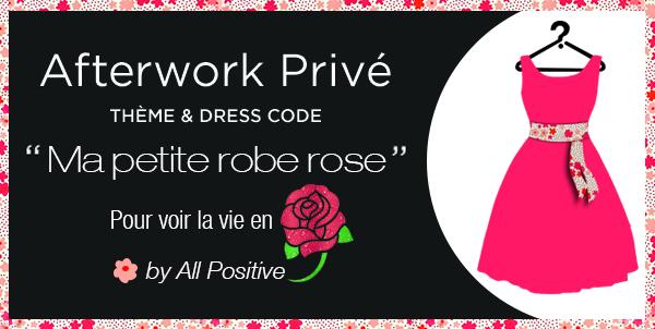 Afterwork «Ma petite robe rose»… pour voir la vie en rose!