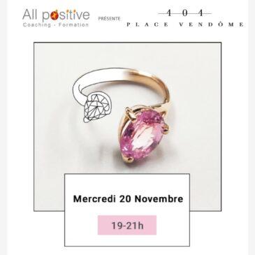 20 novembre : Afterwork 404 Place Vendôme